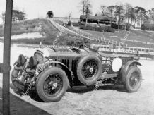 "Bentley 4.5 Litre ""Blower"" No.2 . Birkins Team Car parked at Brooklands c.1930.    Photo"